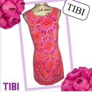 TIBI Floral Whimsical Sheath Dress